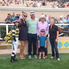 Bode Miller and the Baffert's are all smiles after Carving breaks his maiden at Del Mar.