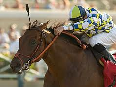 Salute the Sarge can sire the first juvenile winner of 2012 in Southern California in Thursday's opener.