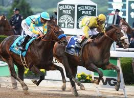 Union Rags rode the rail to sneak past Paynter and win yesterday's Belmont Stakes.